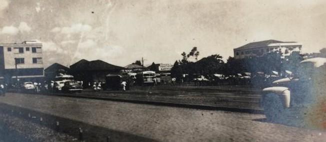 Avenida Brasil ao lado da praça da Rodoviária - 1955