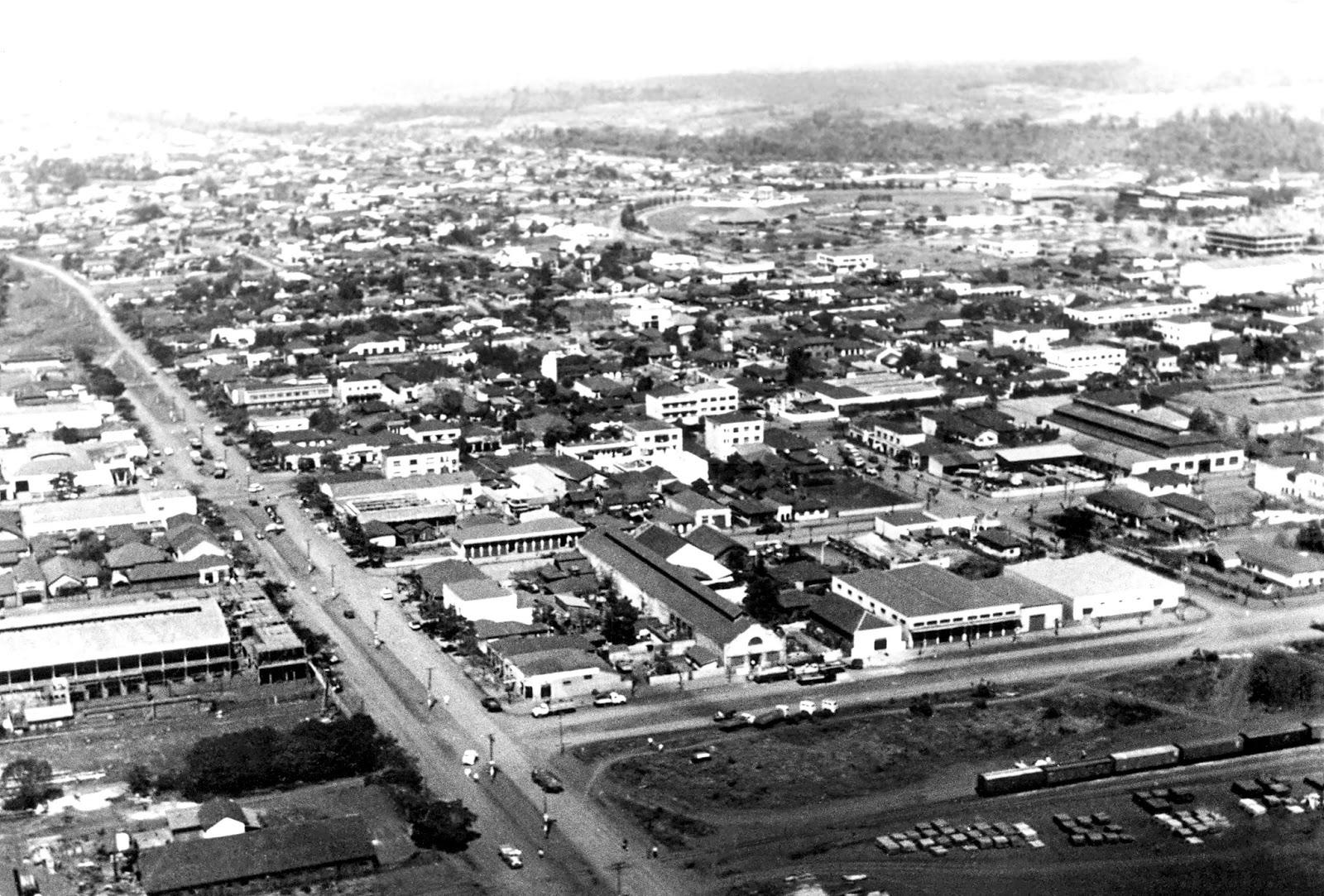 Vista aérea de Maringá - Início dos anos 1960