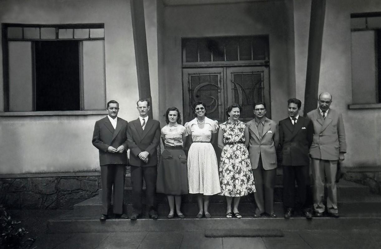 Personalidades no Ginásio Maringá - 1953