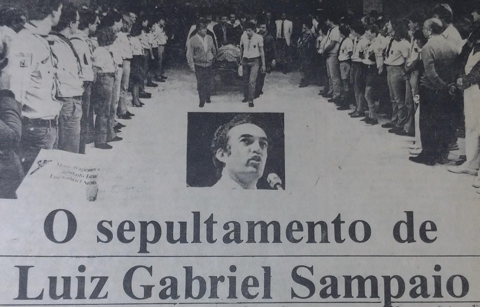 Morte de Luiz Gabriel Sampaio - Dezembro de 1983