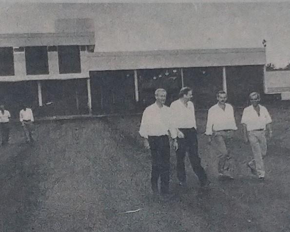 Presidente da VOLVO do Brasil em Maringá - 1988