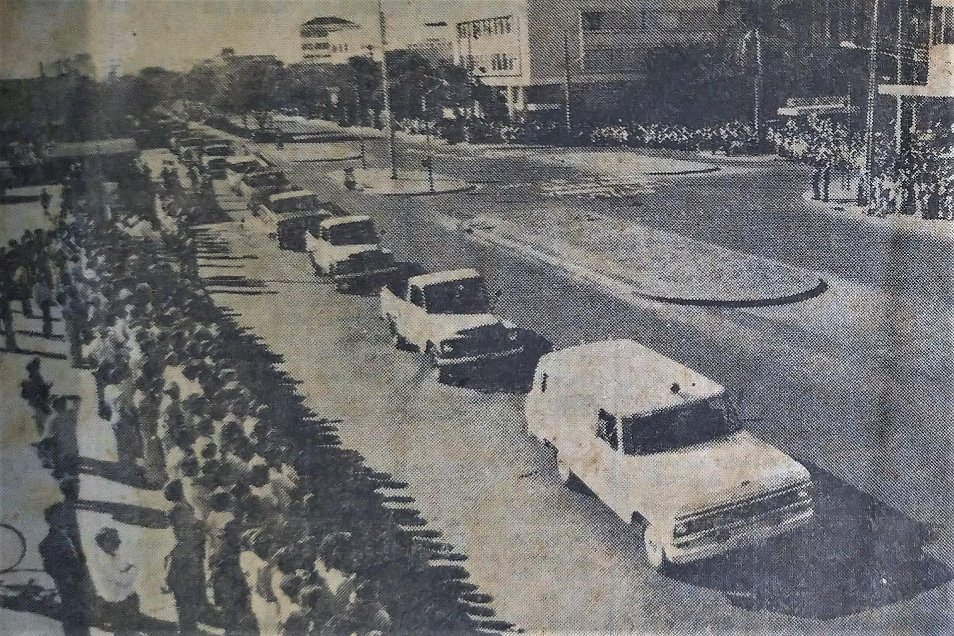 Desfile de aniversário de Maringá - 1978