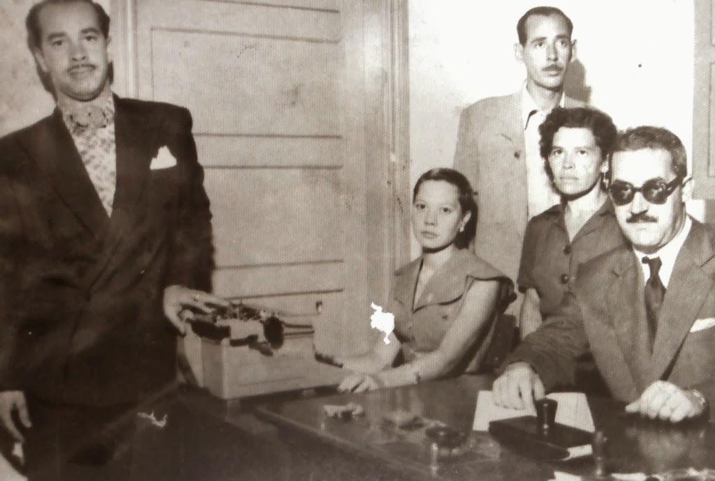 Primeiros funcionários da Câmara de Maringá - Década de 1950