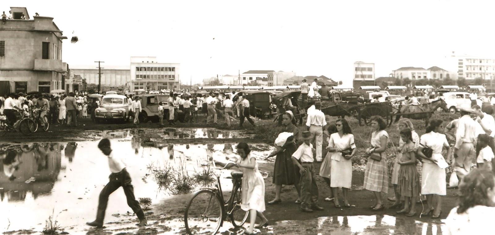 Rua Bandeirantes - Março de 1954