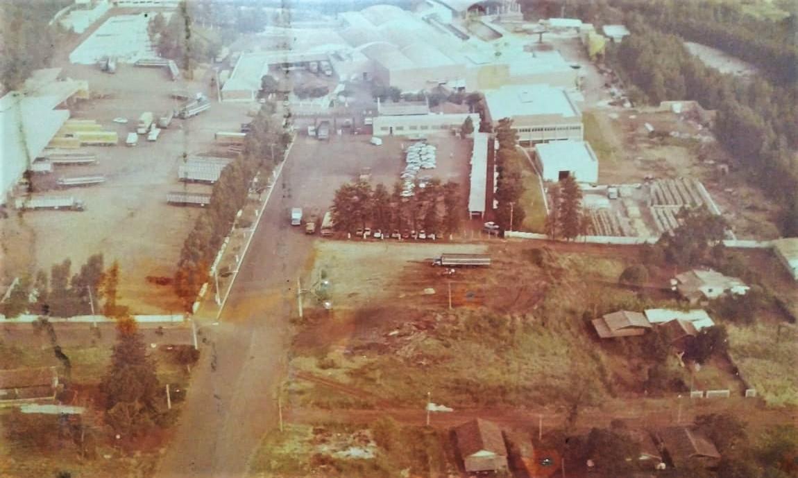 Vista aérea do Frigorífico Central - Anos 1990