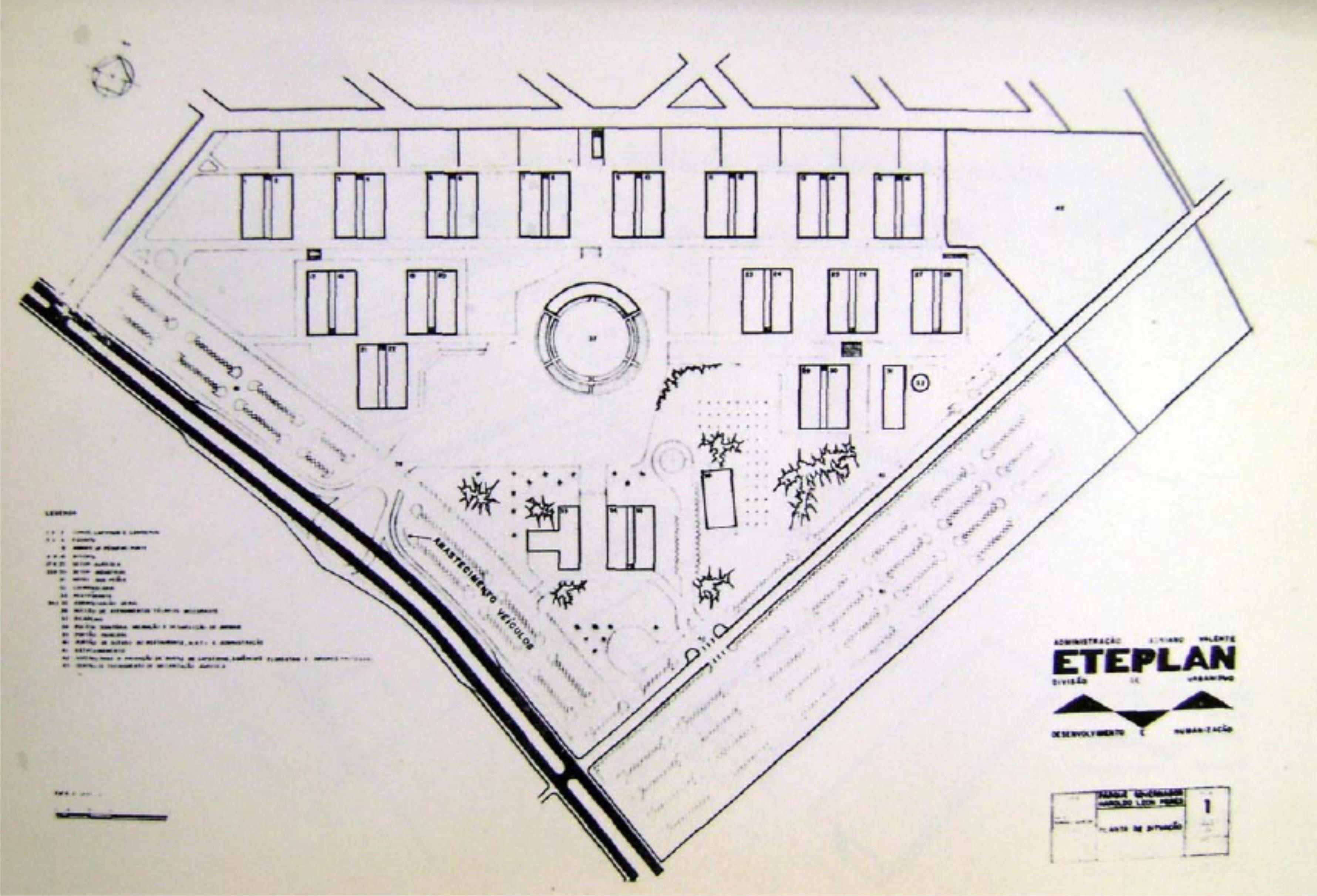 Planta e obras do Parque de Exposições - Início dos anos 1970