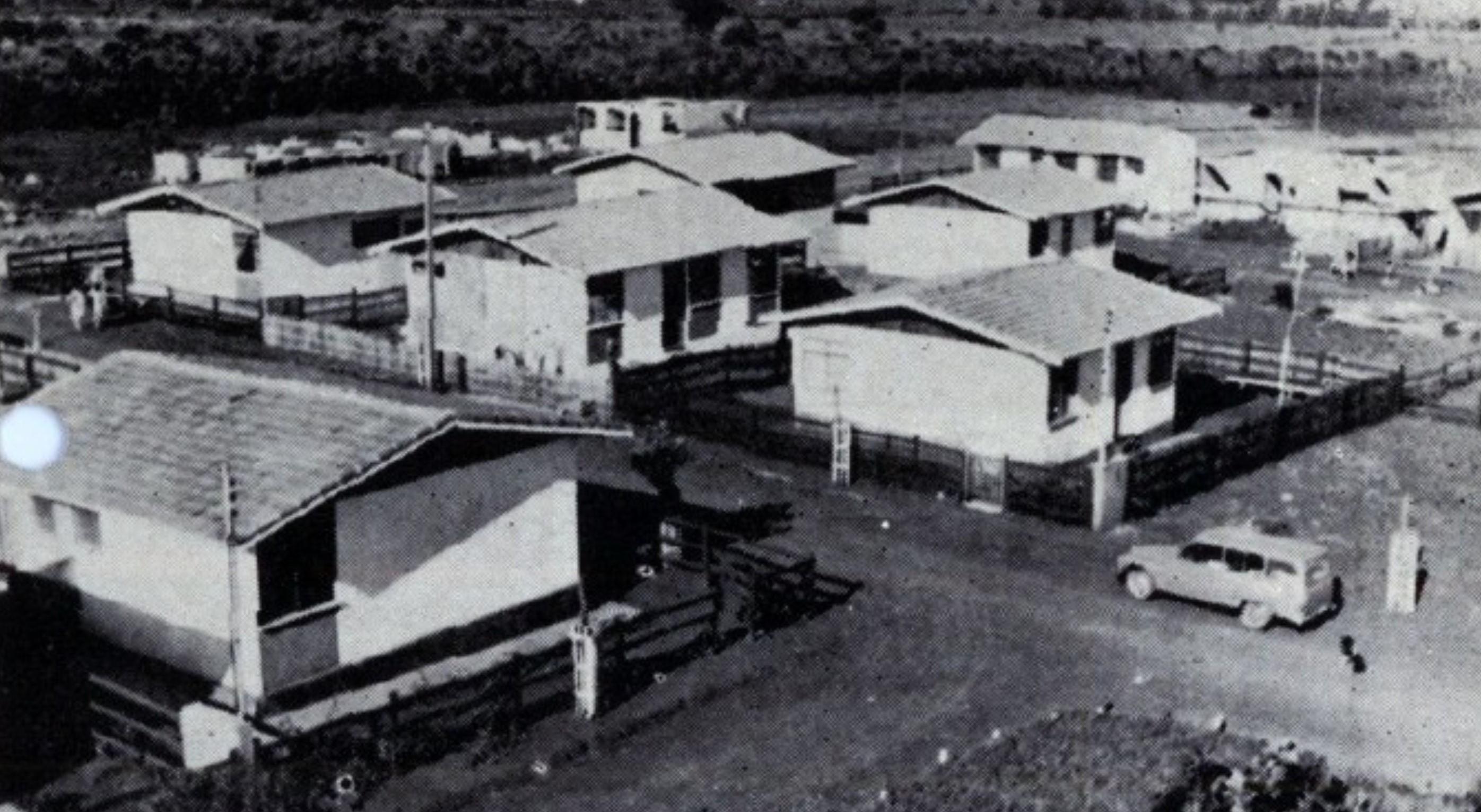 Primeiras casas da Vila Esperança - 1971