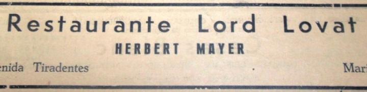 Anúncio: Restaurante Lord Lovat