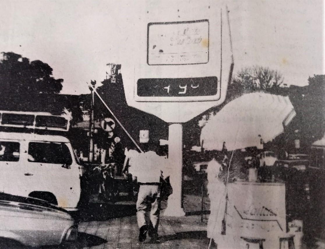 Termômetro da avenida Brasil - Início dos anos 1990