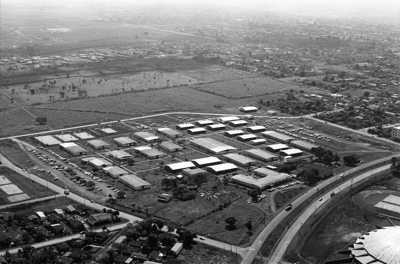 Vista aérea da UEM - 1977