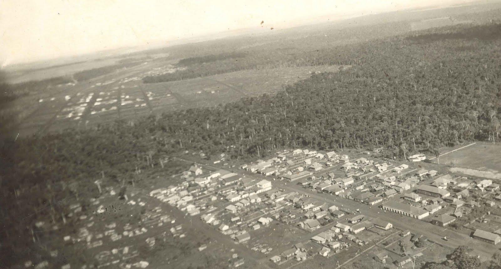 Vista aérea de Maringá - 1948