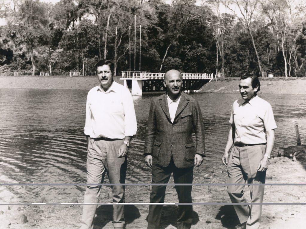 Vistoria final no Parque do Ingá - 1971