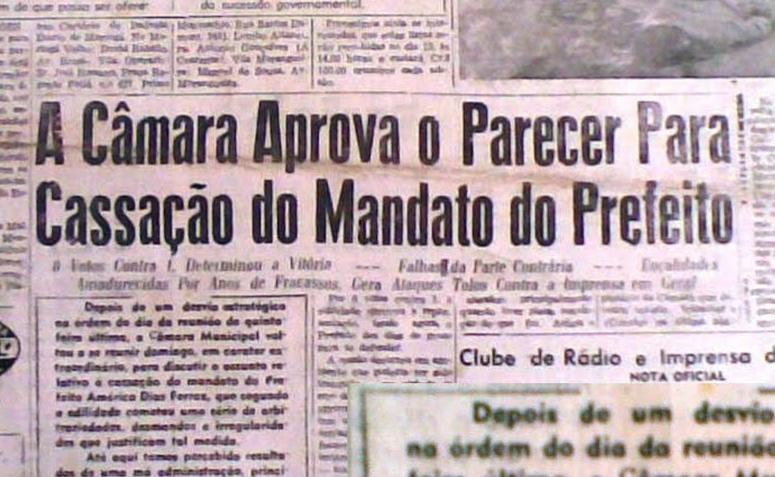 Câmara Aprova o Parecer para Cassação de Américo Dias Ferraz - 1960
