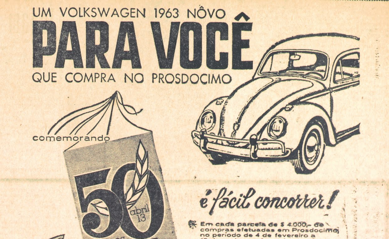 Um Volkswagen para você na Prosdócimo - 1963