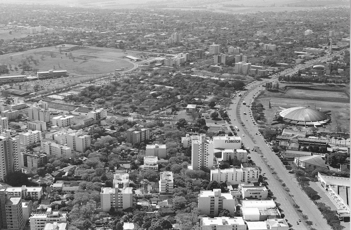 Vista aérea de Maringá - 1989