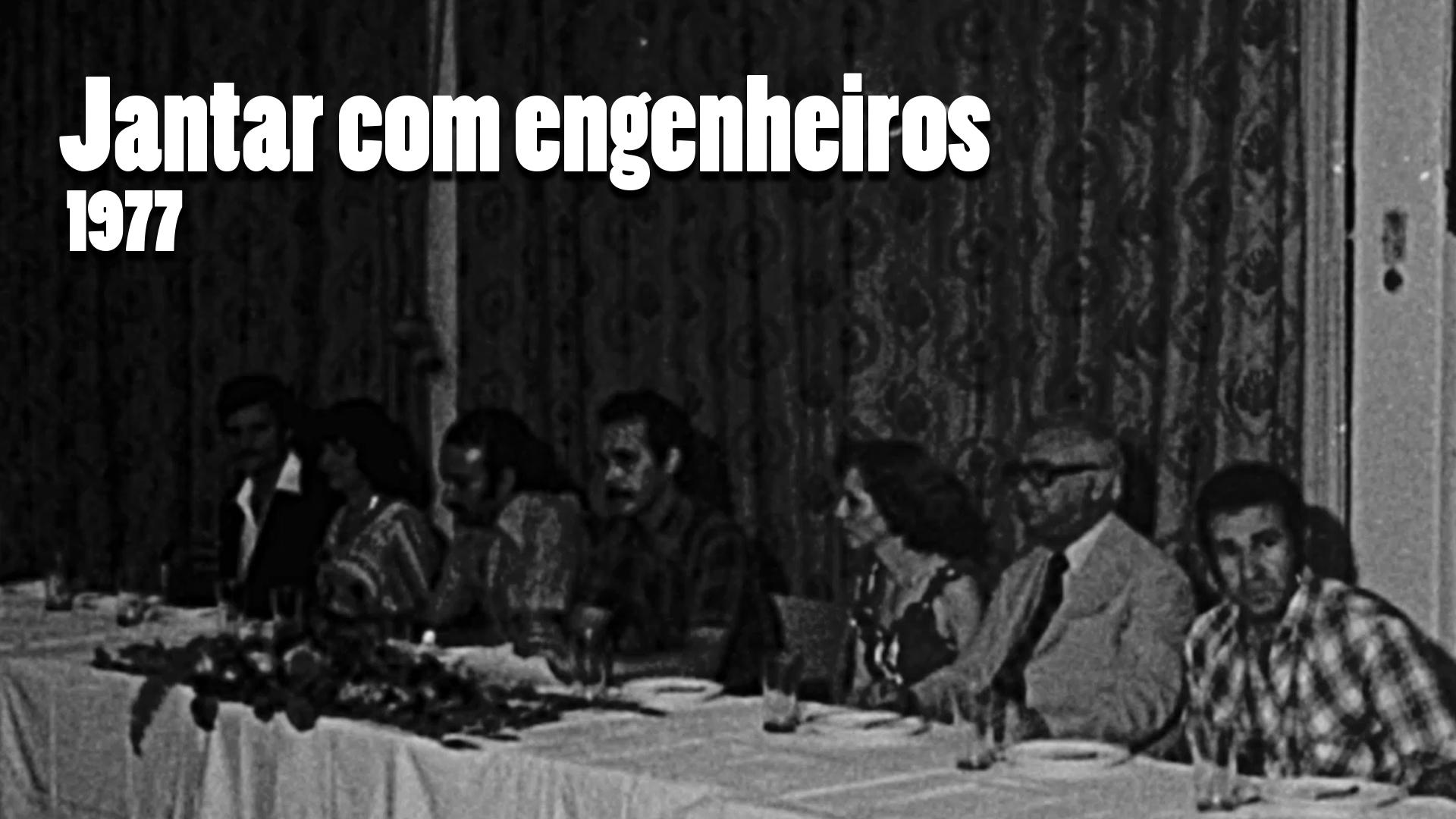 RARIDADE - Jantar com engenheiros em 1977