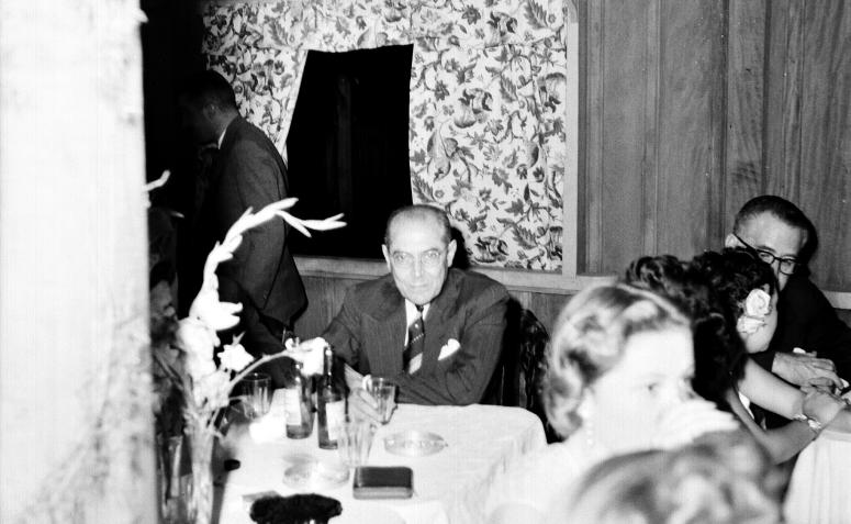 Presidente da CMNP na posse do prefeito - 1952