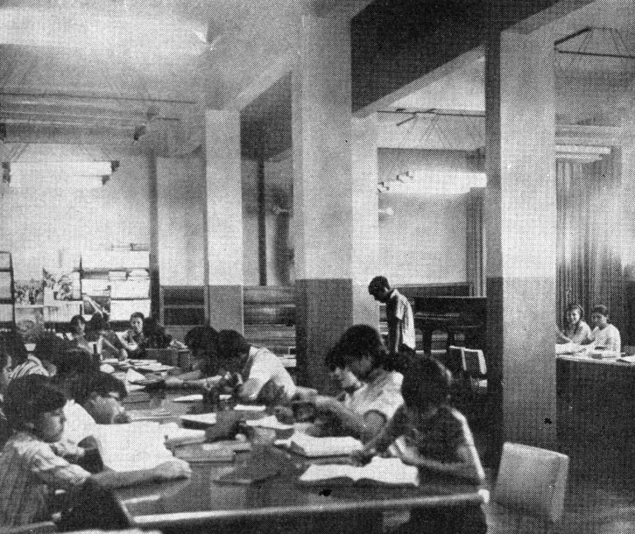 Interior da Biblioteca Municipal - Década de 1960