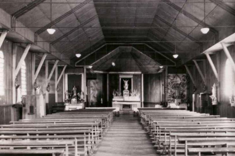 Raridade - Interior da Catedral em madeira - Década de 1950
