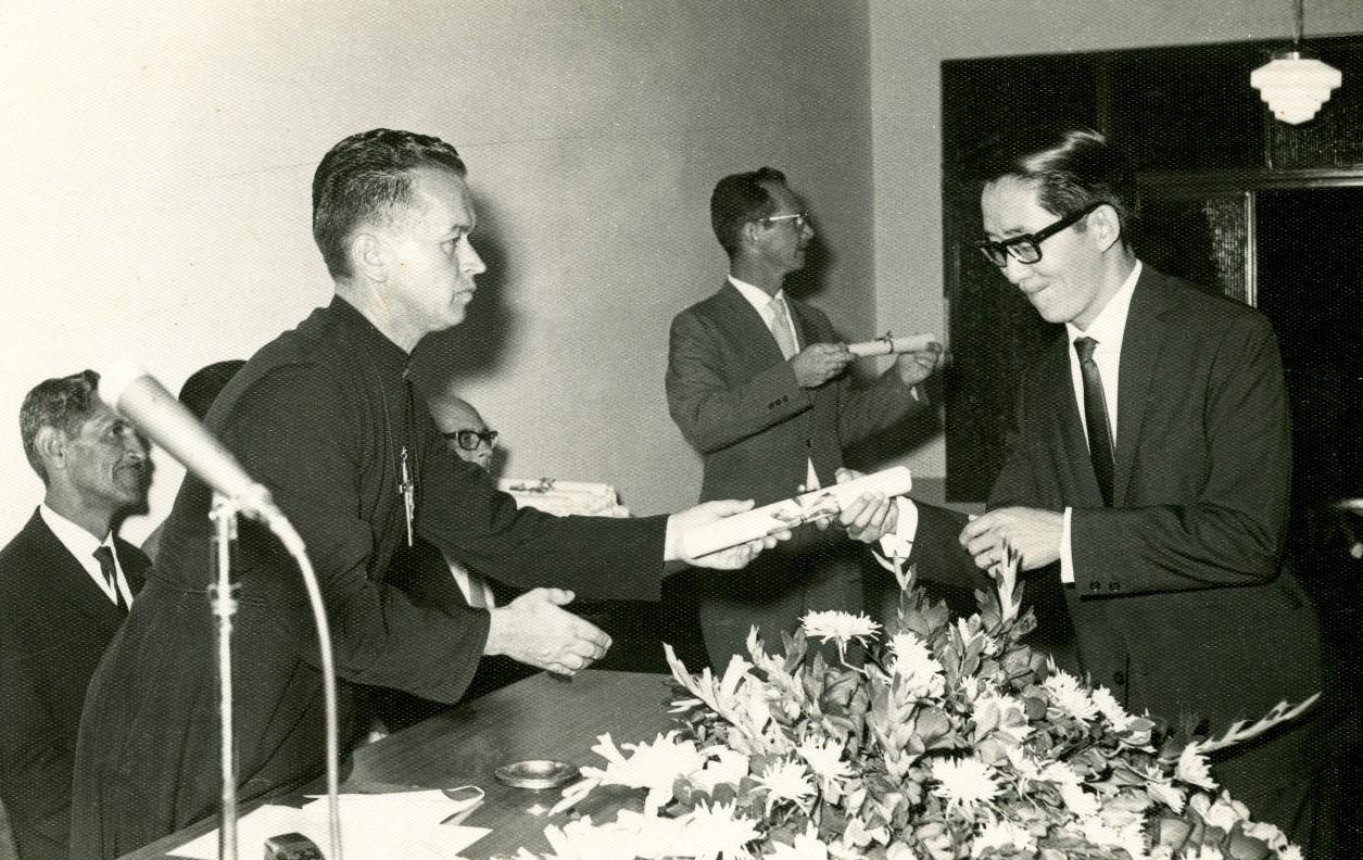 Entrega de diplomas - 1969