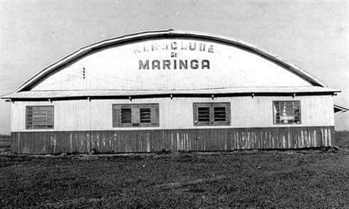 Hangar do Aero Clube de Maringá - Anos 1950