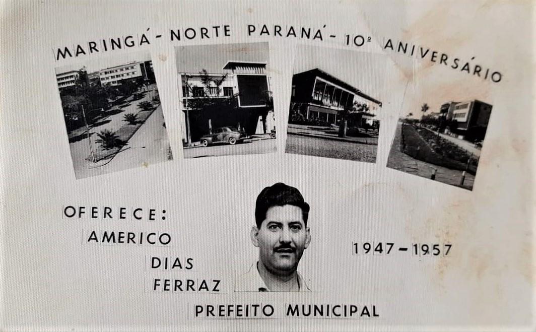Publicidade sobre os 10 anos de Maringá - 1957
