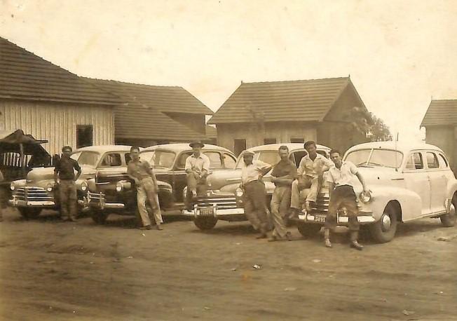 Ponto de táxi - Década de 1950