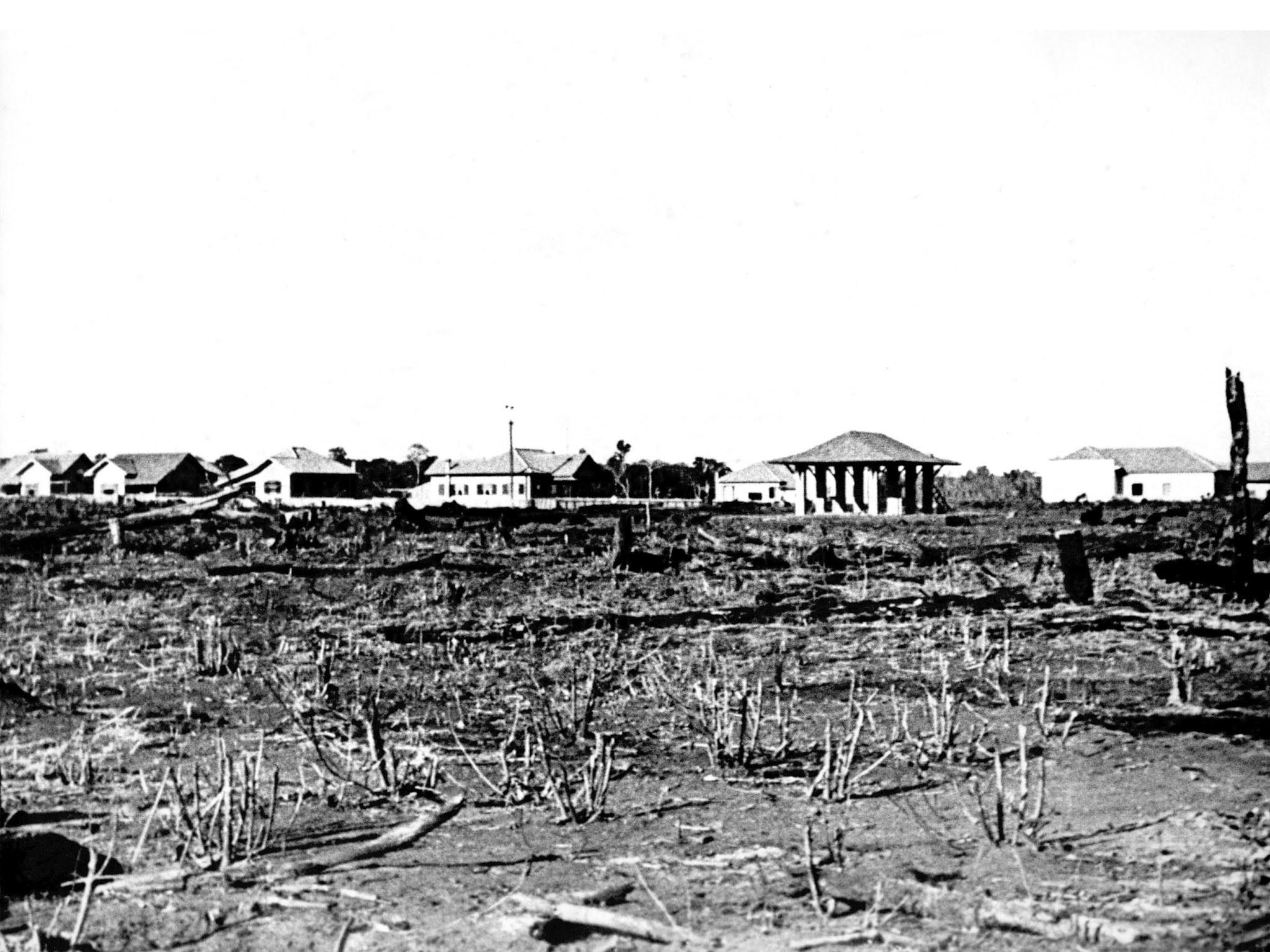 Praça da Rodoviária - Final dos anos 1940