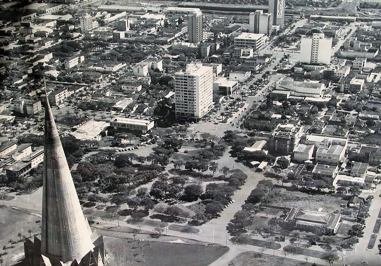Maringá - Vista aérea - 1973