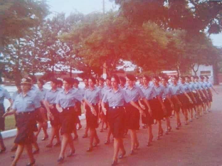 Primeiras soldados do 4º Batalhão da Polícia Militar de Maringá - 1984