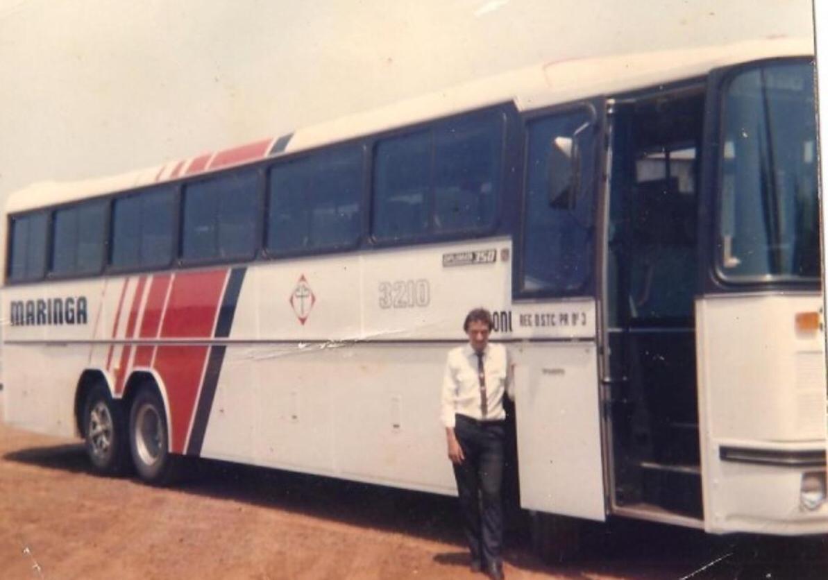 Garagem do Expresso Maringá - Década de 1980
