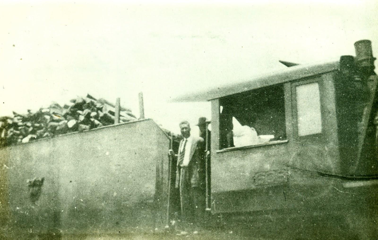 Outro registro: Locomotiva 608 - 1954