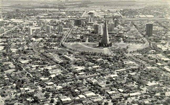 Vista aérea de Maringá - Década de 1980
