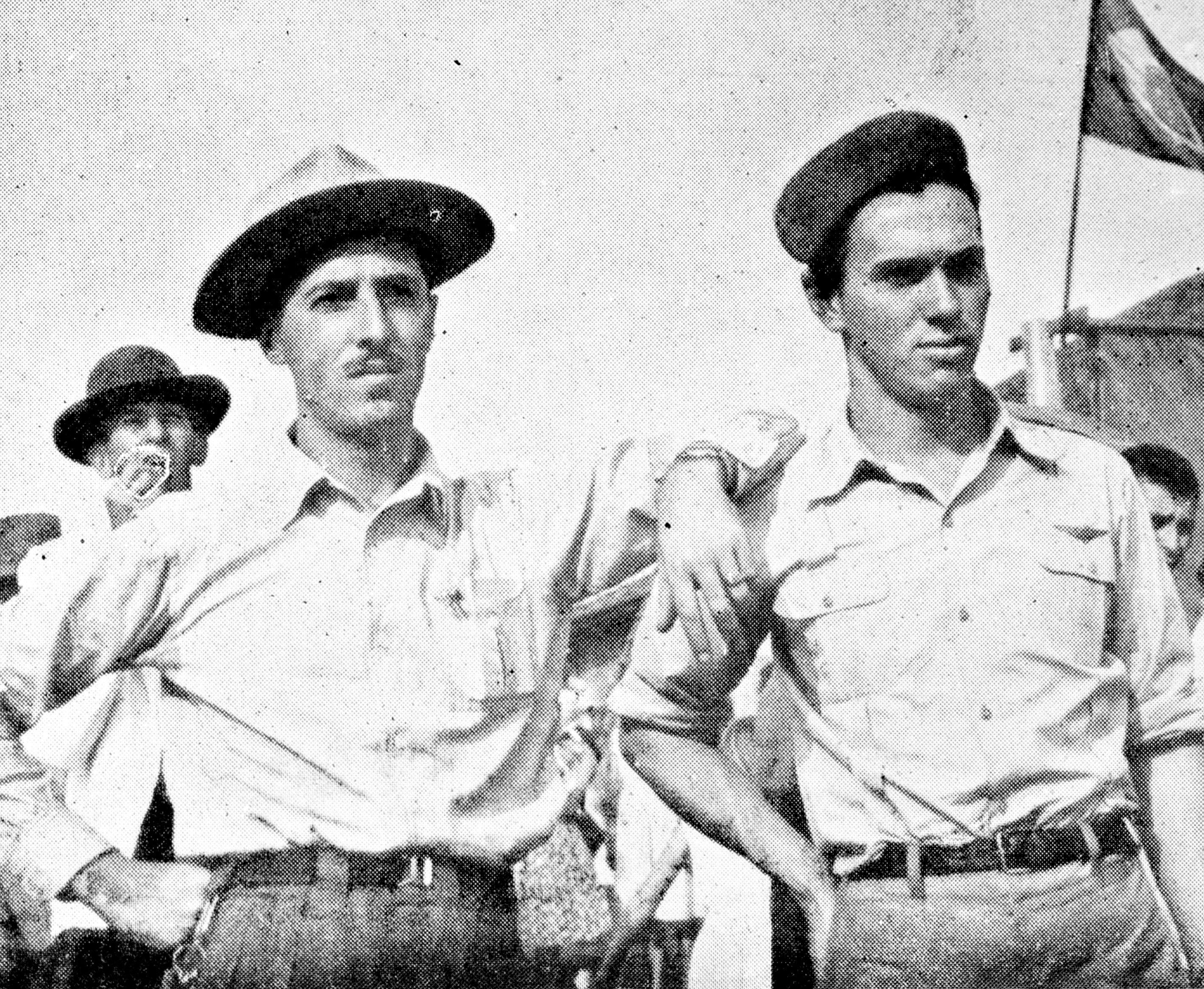 Pilotos no campo de aviação - 1949