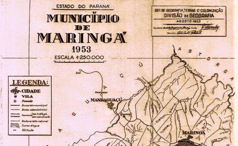 Mapa do Município de Maringá - 1953
