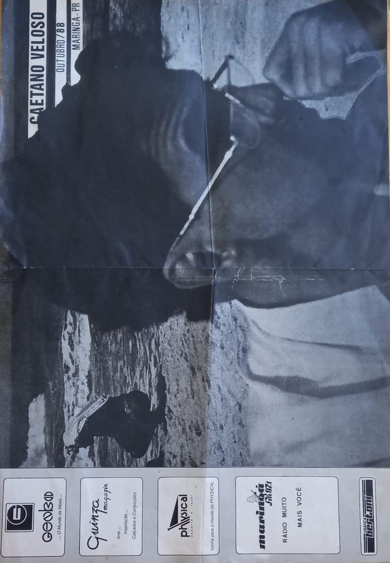 Show com Caetano Veloso - 1988
