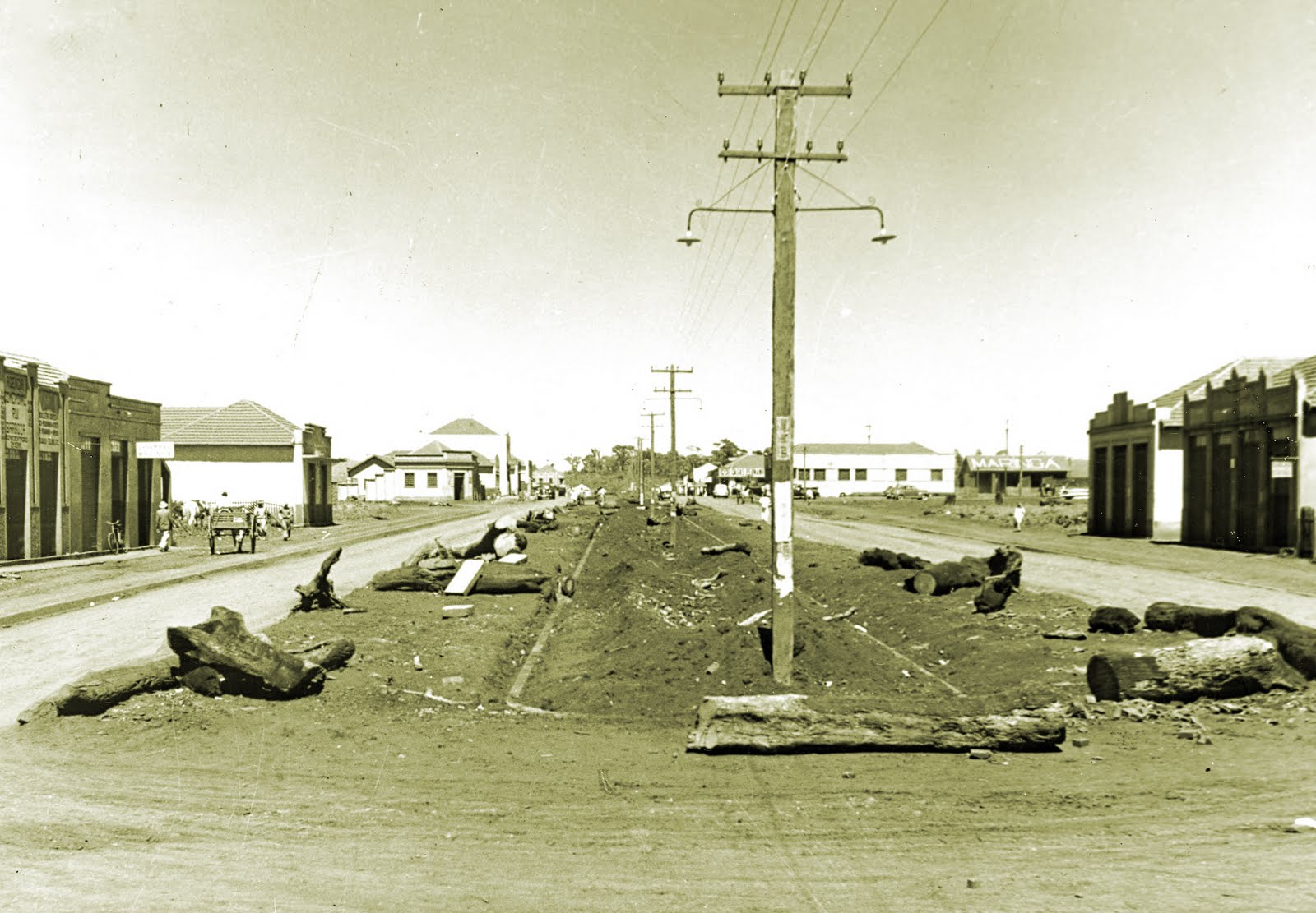 Avenida Brasil x Avenida Herval - Década de 1950