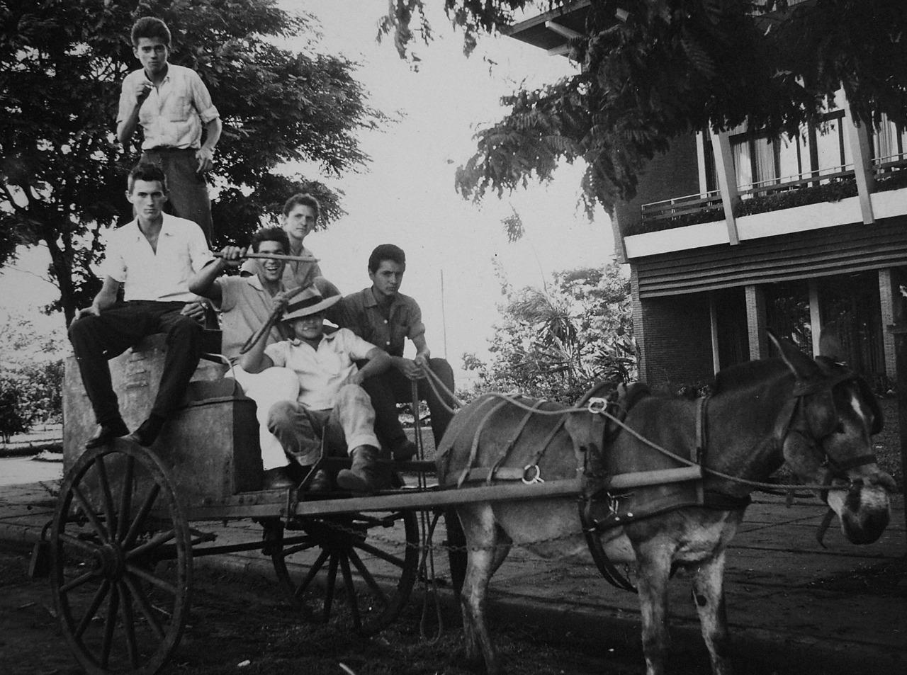 Bucheiro em frente ao Grande Hotel Maringá - 1958