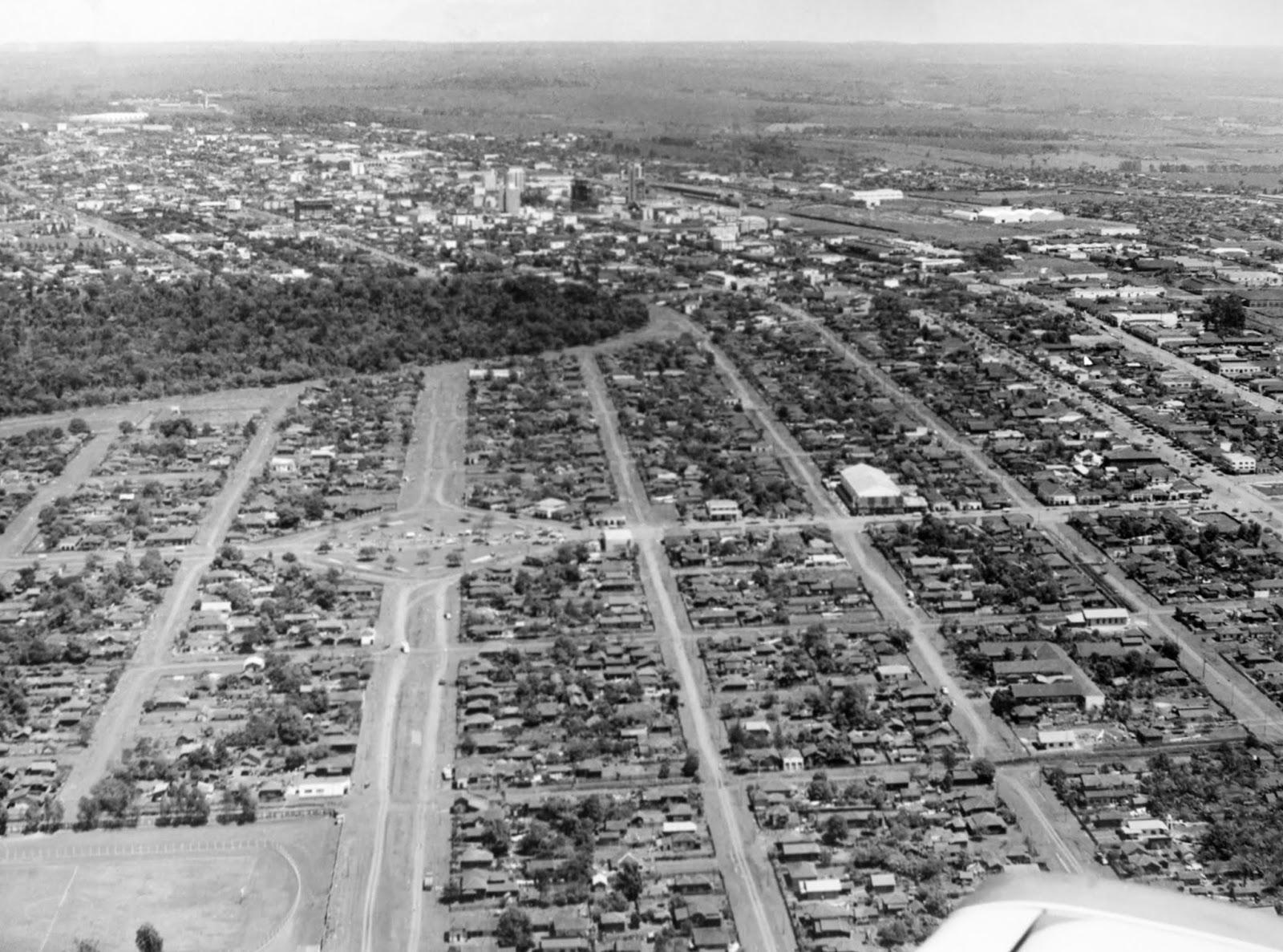 Vista aérea da Vila Operária - 1967