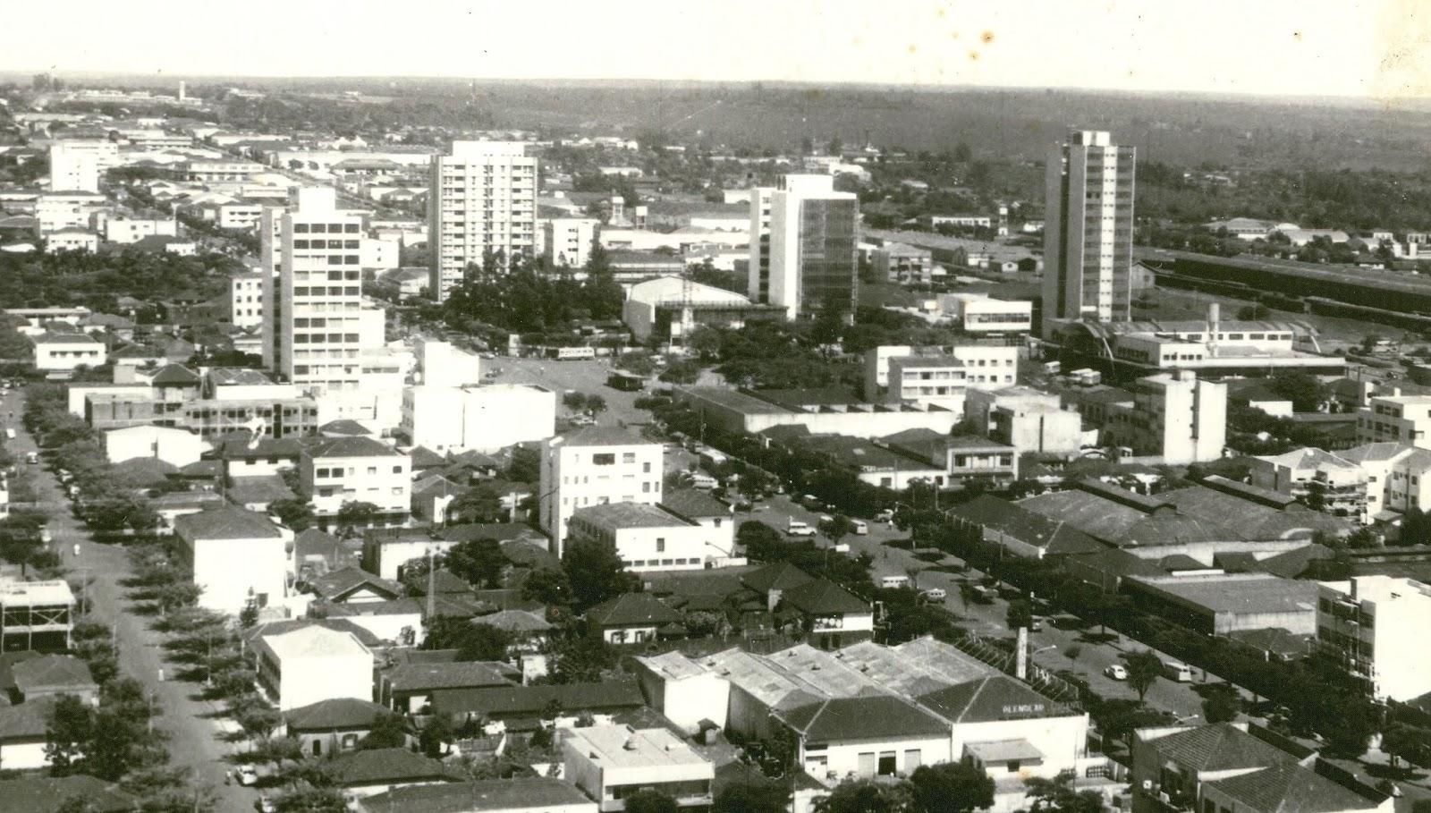 Vista aérea do centro - 1965