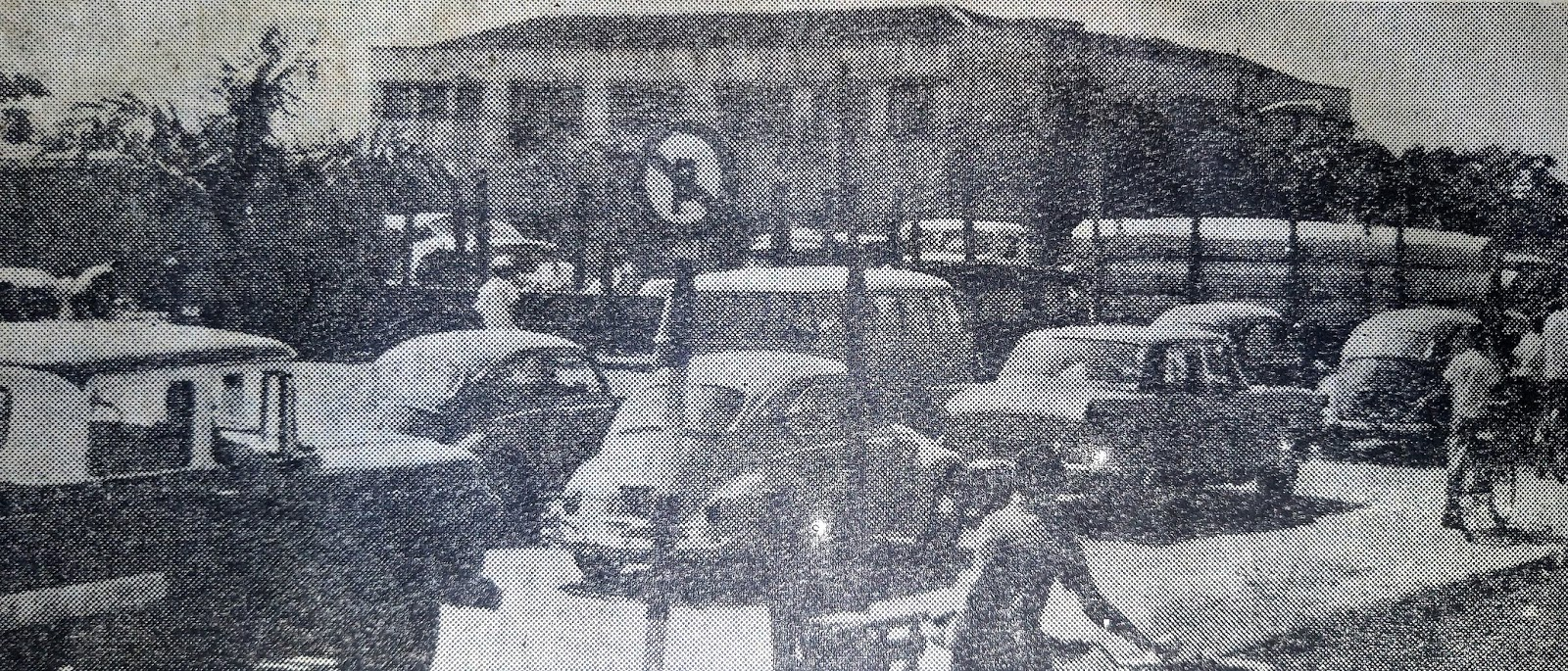 Avenida Paraná e Delegacia - 1972