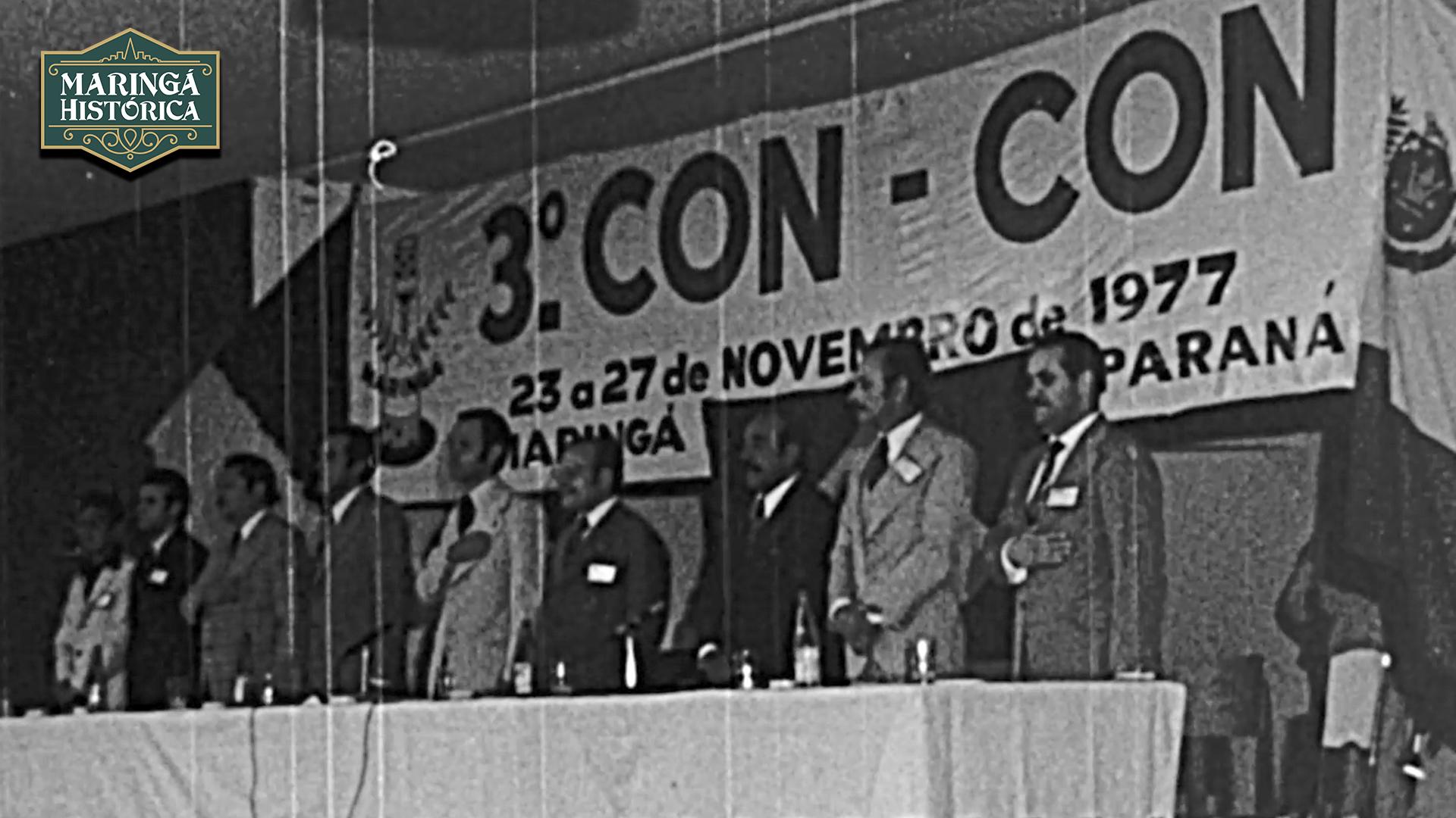 RARIDADE - Abertura da 3ª Convenção de Contabilistas do Paraná 1977