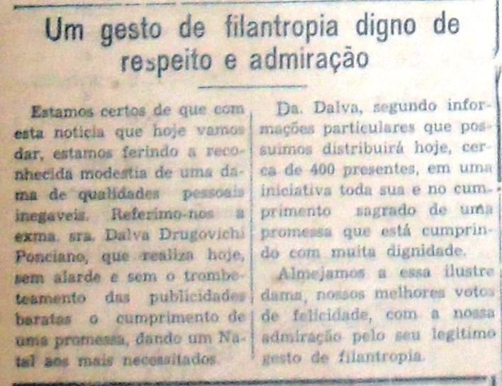 Gestos filantrópicos - 1954