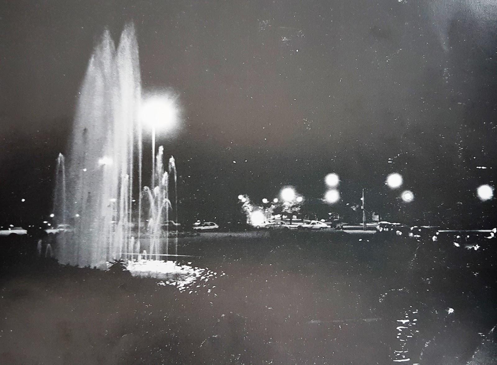 Chafariz iluminado da Catedral - Década de 1980