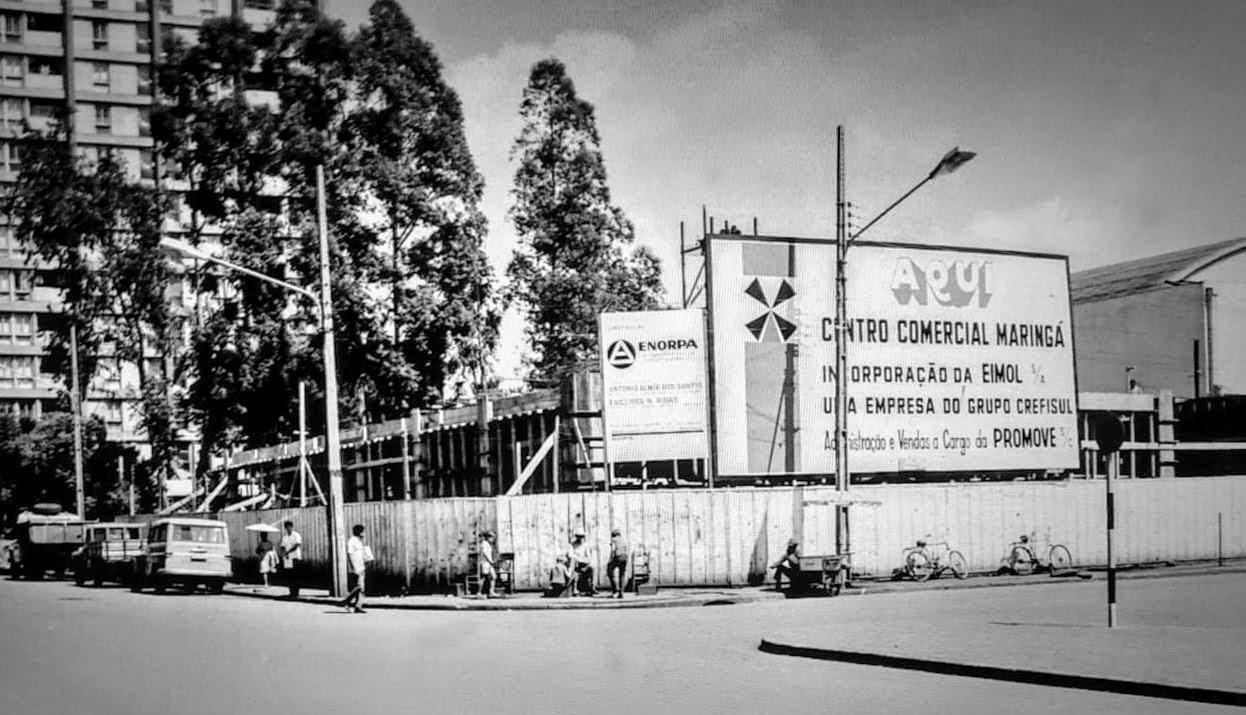 Obras do Centro Comercial Maringá - Final dos anos 1960
