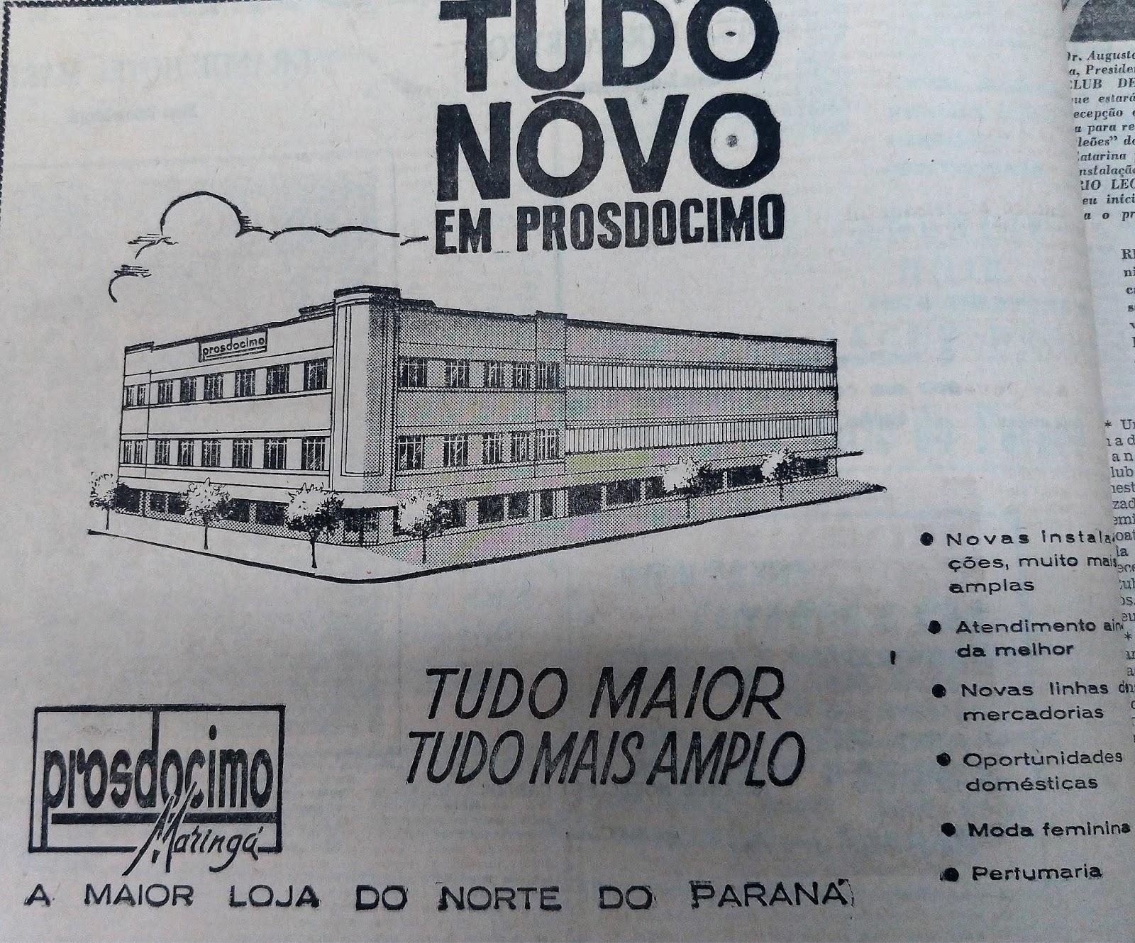 Anúncio da Prosdócimo - 1962