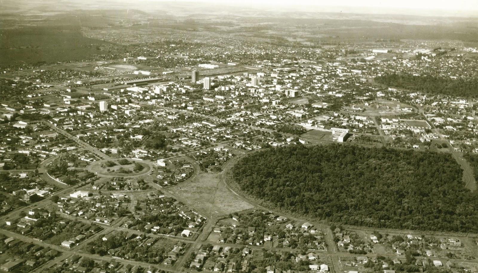 Vista aérea de Maringá - Década de 1960