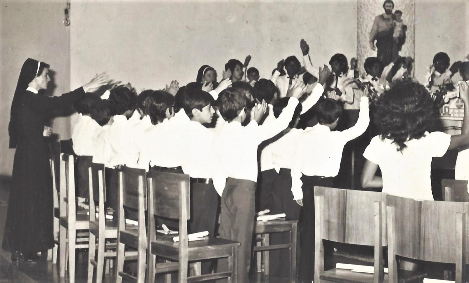 1ª comunhão na Igreja São José - 1972