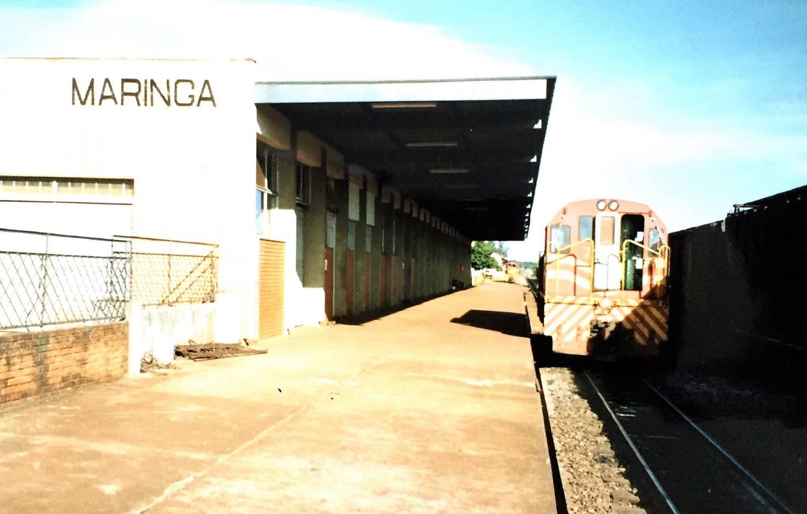 Plataforma da Estação Ferroviária - 1991