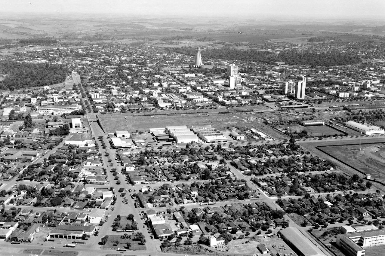 Vista aérea de Maringá - Década de 1970